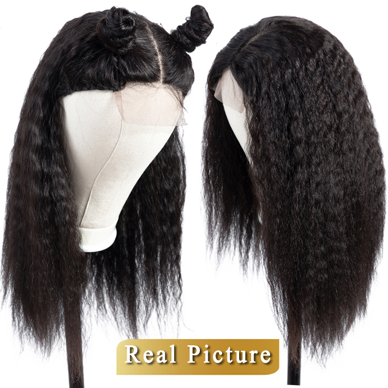 Lace Closure Wig 4×4 Closure Human Hair Wigs Kinky Straight For Women Pre Plucked Malaysian Non Remy Lace Wig