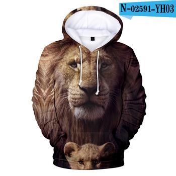 3D fajne dorosłe dziecko rozmiar król lew bluzy bluzy mężczyźni dzieci Streetwear swetry jesień zima król lew odzież męska tanie i dobre opinie darlingoddess Jesień I Zima Na co dzień Podróż CN (pochodzenie) Pełne COTTON Modalne Drukuj REGULAR Z kapturem Brak