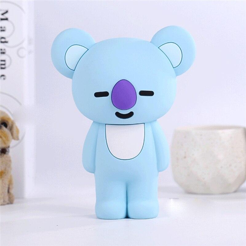 Q UNCLE Pencil Case 3D Cartoon Blue Koala Pencil Bag School Office Silica Gel пенал