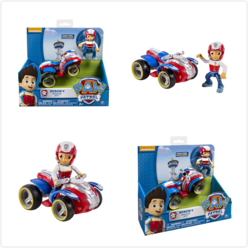 Original Box Genuine Paw Patrol Skye Ryder Chase Marshall Rocky Zuma Rubble Everest Tracker Vehicle & Figure Children Toy Gift