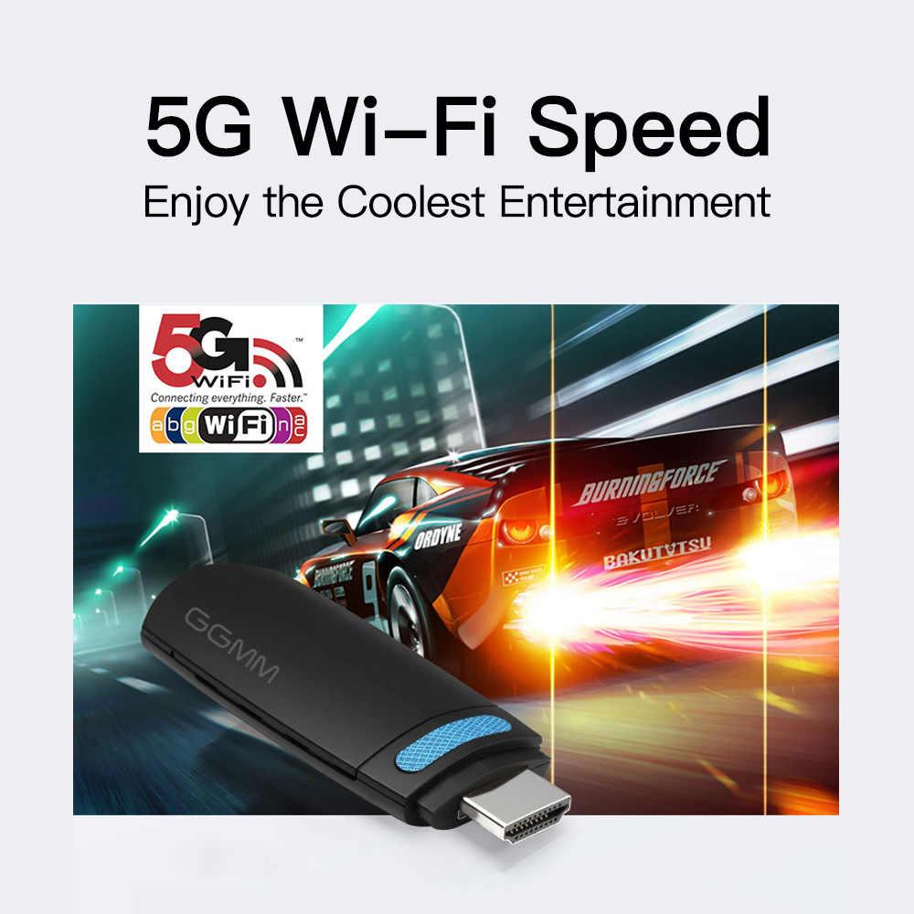 GGMM Miracast TV Stick bezprzewodowy adapter WiFi AirPlay HD 1080P wyświetlacz Mini klucz HDMI wsparcie 5G/2.4G DLNA AirPlay EZmira lustro