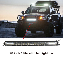 ECAHAYAKU 2-Row 21 inch LED Light Bar Offroad Combo beam 180w slim Led Work Light Bar for Truck Car SUV ATV 4x4 4WD 12v 24V jeep недорого