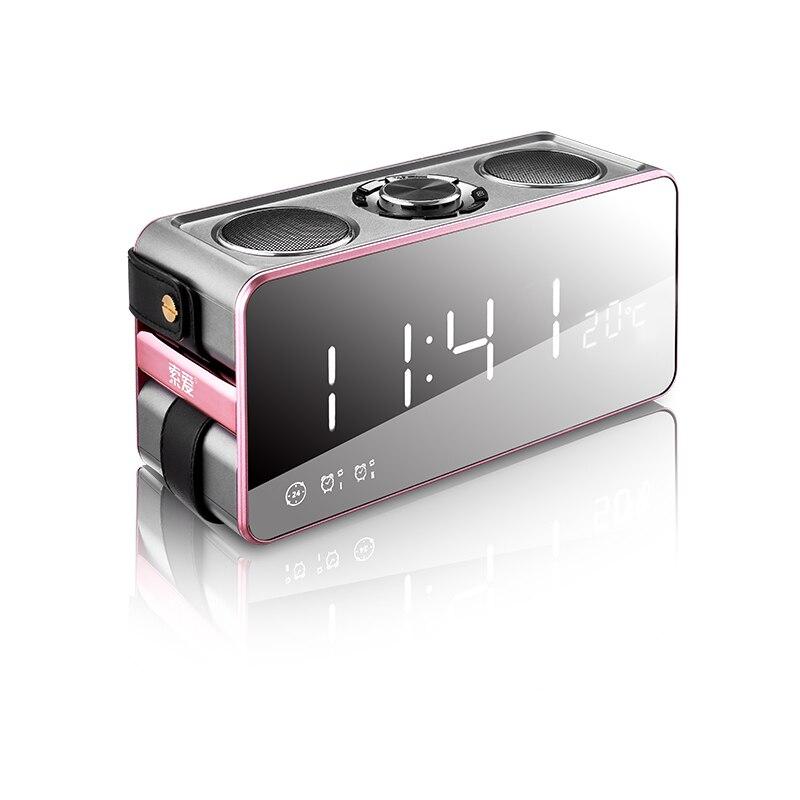 Espelho mágico 25W Música estéreo de Alta Qualidade Sem Fio Bluetooth Speaker Portátil caixa de som surround Orador Ao Ar Livre Baixo TF/ FM/USB