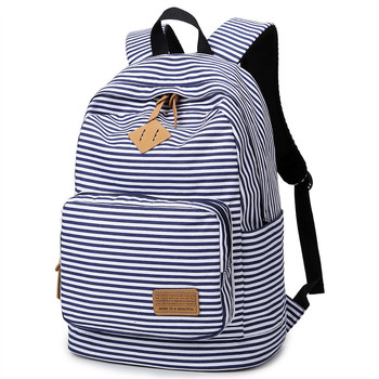 Preppy Bagpack Female Striped Printing Backpack Women Computer Back Pack Lady School Bags for Teenagers Girls Travel Bag Mochila meiyashidun new canvas backpack women cute printing backpacks school bags for teenagers girls rabbit ear bag mochila travel pack