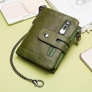 Image 4 - KAVIS 100% ของแท้ Cowhide หนังผู้หญิงกระเป๋าสตางค์หญิง PORTFOLIO Portemonnee กระเป๋าเหรียญขนาดเล็ก Walet กระเป๋าแฟชั่น