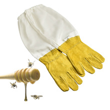 1 Pair of Protective Beekeeping Gloves Goatskin Bee Keeping Vented Long Sleeves beekeeping equipment and tools