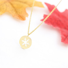Double Nose Alloy Cute Design Snowflake Charm Necklaces Fashion Christmas Gift Snowflake Ski Sport Jewelry snowflake