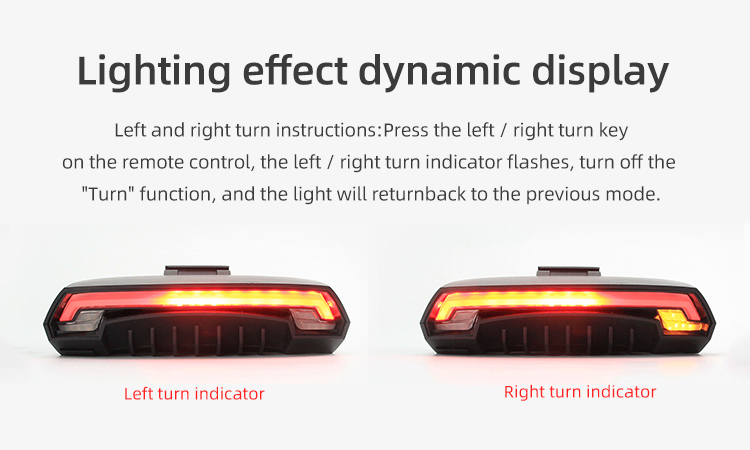 Wireless Bike light Brake Bicycle Rear Light laser taillight Smart USB Rechargeable Cycling Accessories Remote Turn led (8)