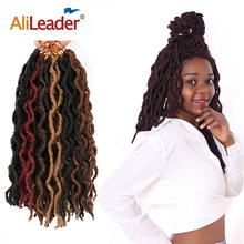 "Alileader 12 ""18"" โครเชต์ผมนุ่ม Nu Locs Braiding Hair EXTENSION Synthetic Crochet Braid สีดำสีน้ำตาล Omber Braids 20 Strand/PCS(China)"