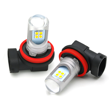 Hight Brightest 2400lm LED Car Headlight Bulbs H8 H11 H16 Fog Lights Auto H8 Xenon White Replace DRL Light 12V image