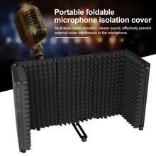 Портативный изоляционный щит для микрофона регулируемый угол