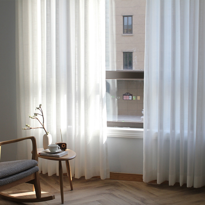 Tende In Organza Moderne.Super Sale 77bf Modern Solid White Tulle Curtains For Living