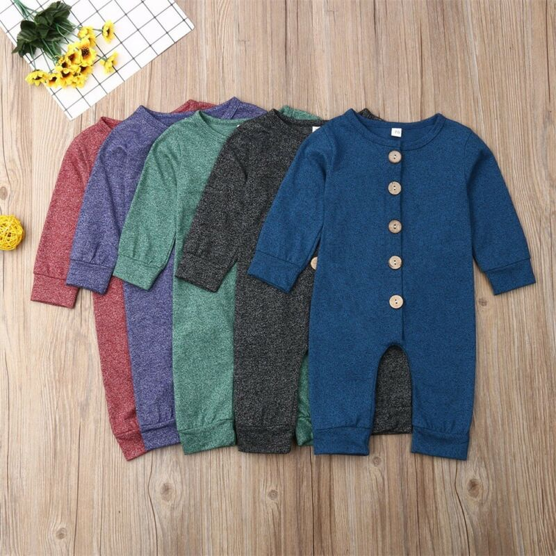 Infant Baby Boy Girls Warm Romper Jumpsuit Long Sleeve Cotton Clothes Outfits Newborn Xmas Christmas One-Pieces Body Suit