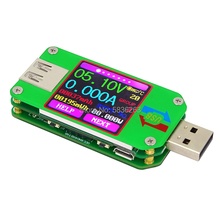 UM24C USB 2.0 Color LCD Display Cable Tester Voltmeter Battery Charging Voltage DC Ammeter Capacity Monitor Thermometer