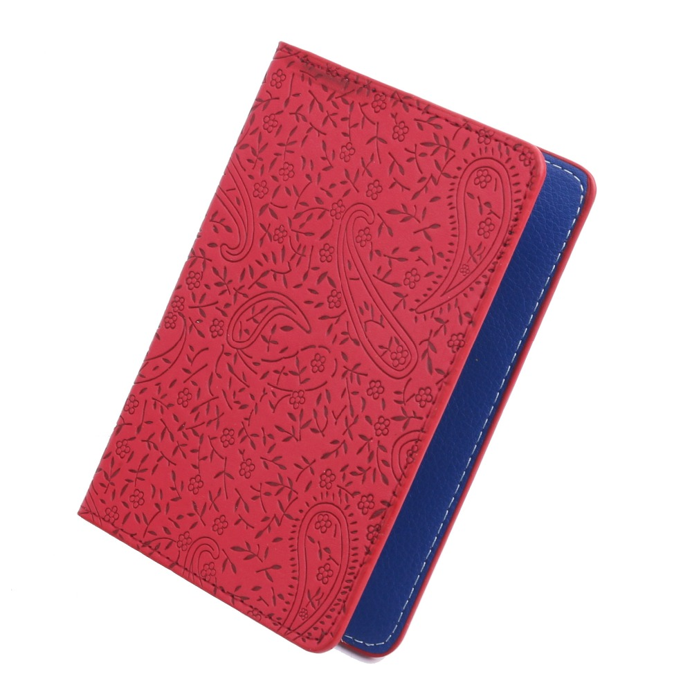 TRASSORY Ladies Cute Lavender Leather Passport Cover Holder Women Thin Fashion Travel Passport Leather Case