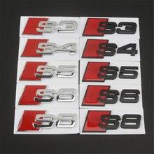 Aplicável a A4L A6L A5 A3 A8 S3 S4 S5 S6 S7 S8 RS8 RS7 RS6 RS5 RS4 RS4 RS3modified adesivos de carro com logotipo cauda S logotipo desportivo