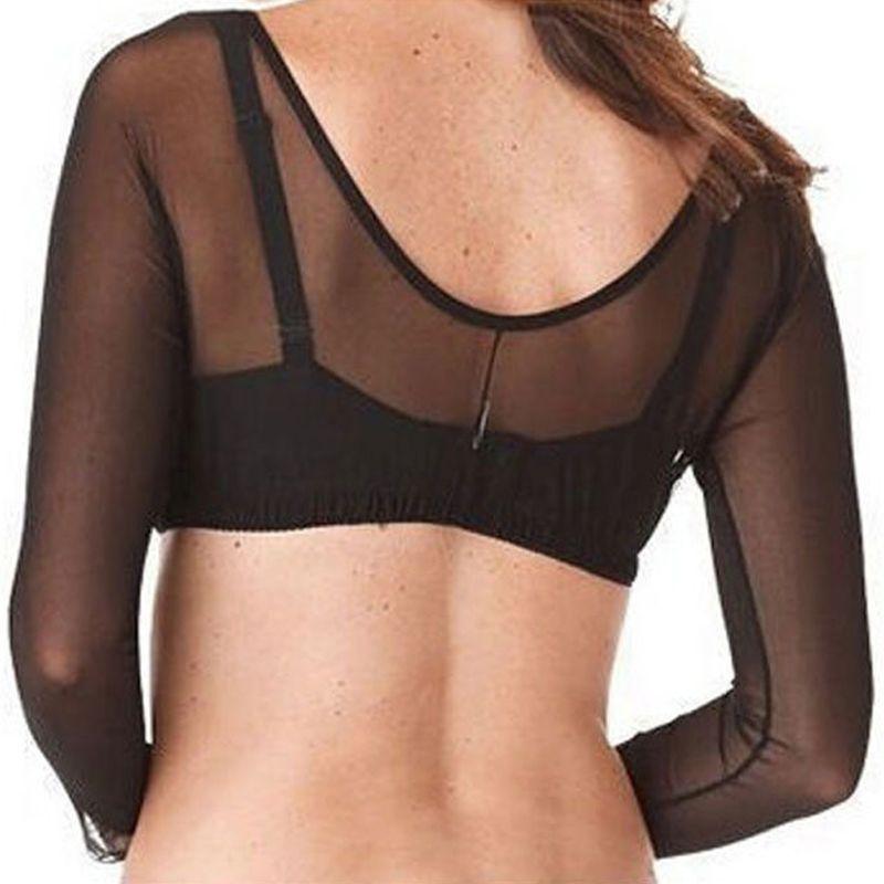 2 Pcs Women Thinner Slimmer Lightweight Armwear Wrap Crop Tops Base Shirt Blouse LX9E