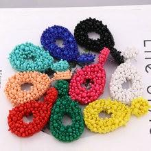 Aretes Glass Beads Large Earrings For Women Long Drop Earrings Bohemian Earrings Beautiful Handmade Jewelry Oorbellen недорого
