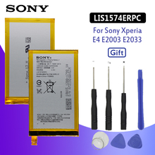 SONY Original Phone Battery For Sony Xperia E4 E2003 E2033 E2105 E2104 E2115 LIS1574ERPC 2300mAh Replacement Batteries Free Tool для sony xperia e4 dual e2104 e2105 стекло экран протектор фильм для sony xperia e4 dual e2104 e2105 e2114 e2115 стекло экран прот