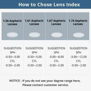 Image 3 - Gafas ópticas asféricas de visión única, lentes de lente graduada, montura de gafas con recubrimiento AR y resistente a los arañazos, 1,61