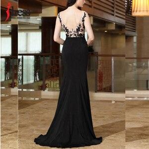 Image 4 - Женское длинное вечернее платье Русалка IDress, элегантное кружевное платье с вышивкой, открытой спиной и разрезом, вечерние платья для выпускного вечера