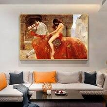 Lady godiva от john collie Обнаженная Картина на холсте «женщина»