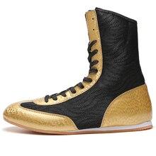 New Arrival Man Boxing Shoes Designer Pro Wrestling Golden Boys Wrestling Shoes Breathable Boxing Shoe Mens Wrestling Sneaker