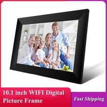 P100 wifi quadro de imagem digital 10.1-inch 16gb smart electronics photo frame app controle tela de toque 800x1280 ips lcd painel