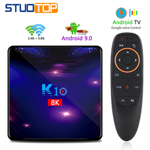 STUOTOP K10 2020 new android smart tv box android 9.0 4k 8k 4gb 32gb 64gb 128gb amlogic s905x3 set-top box youtube media player