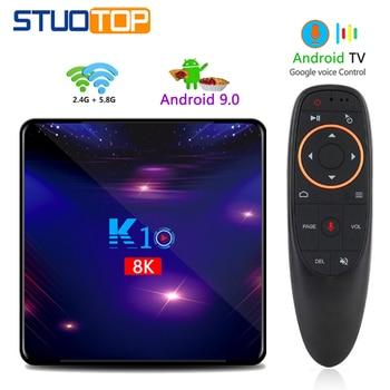 STUOTOP K10 2020 new android smart tv box android 9.0 4k 8k 4gb 32gb 64gb 128gb amlogic s905x3 set-top box youtube media player