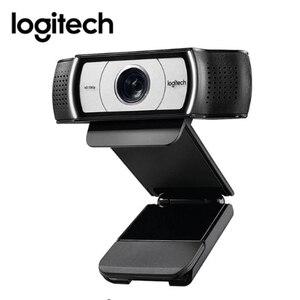Image 1 - Orijinal Logitech C930c HD 1080P web kamerası akıllı web kamerası kapağı bilgisayar için USB Video kamera 4 kez dijital Zoom web Cam