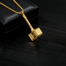 Vintage Charm Thor Hammer Necklace The Dark World Necklaces For Men And Women Punk Fashion Jewelry Long Chain Choker