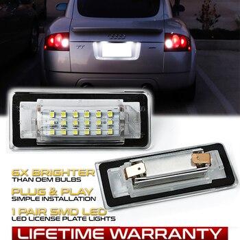 цена на 2Pcs LED License Number Plate Light Lamps For Audi TT MK1 8N/Audi TT Roadster 8N9/Audi TT Coupe 8N3 Number Lamps Car Accessories