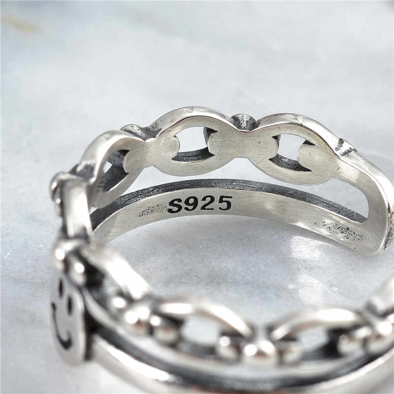 2019 ร้อนสไตล์ใหม่ 925 เงินสเตอร์ลิงแหวน expression หญิง party เครื่องประดับที่สวยงามของขวัญแฟชั่นเครื่องประดับ