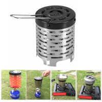 Portable Outdoor Camping Gas Heater Warmer Stove Heating Cover Lightweiht Outdoor Camping Stove Hiking Equipment Stainless Steel