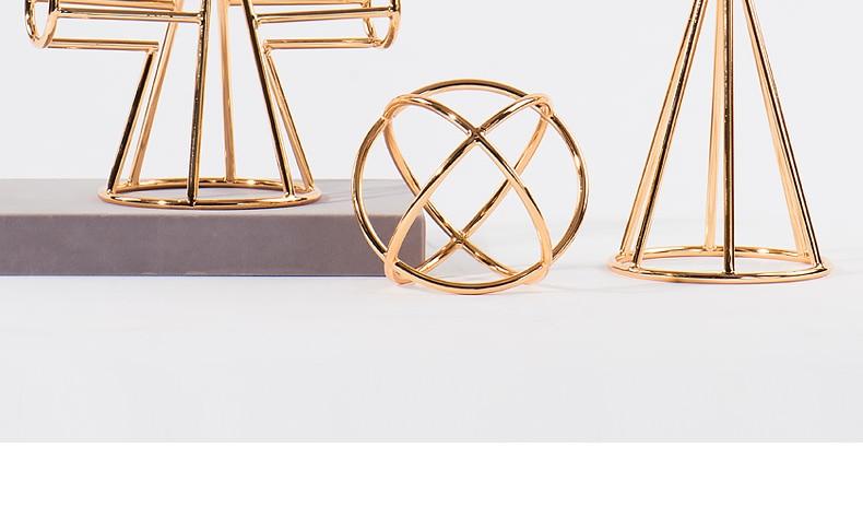 Criativo galvanoplastia de metal geometria ferro arte