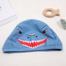 2-12 lat Cartoon dzieci czepek elastyczny druk głowy Shark usta oddychające czepek produkty sportowe wody