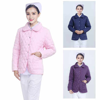 According To The Angel Long Sleeve Warm Nurse Cotton Padded Jacket On Duty Cotton Padded Jacket Cardigan Short Cold Proof Doctor - DISCOUNT ITEM  0% OFF All Category