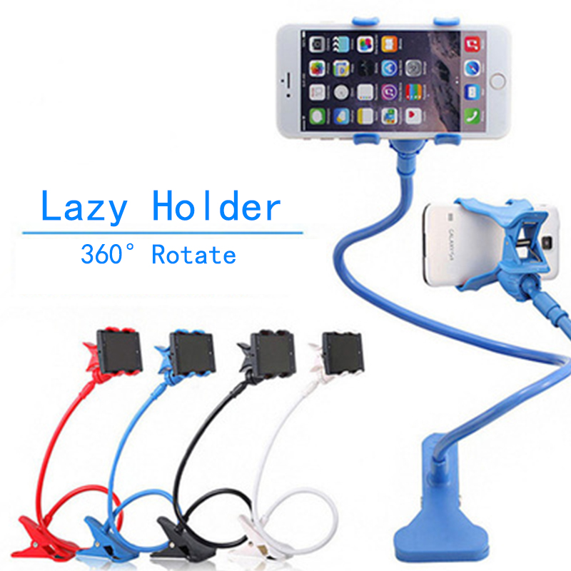 360 Degree Rotate Universal Lazy Mobile Phone Stand Holder Stents Flexible Bed Desk Table Clip Bracket For Phone Flexible Holder
