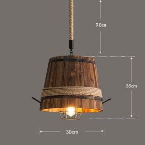 Image 2 - Mỹ Retro THÙNG GỖ đèn chùm đèn chùm thanh Câu Lạc Bộ cafe phòng ngủ ánh sáng sáng tạo trang trí cà phê nhà hàng Mặt dây chuyền đèn