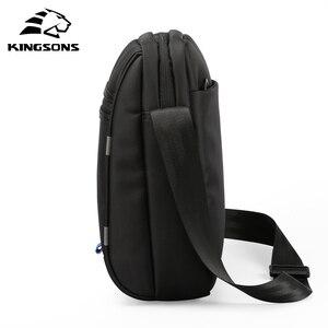 Image 5 - Kingsons сумка через плечо известного бренда Повседневная деловая сумка мессенджер винтажная сумка через плечо мужские сумки через плечо