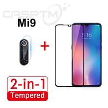 2-in-1 9H Full Cover Screen Protector For Xiaomi Mi 9 9 Se CC9 CC9E Tempered Glass & Back Camera Lens Glass Film For Xiaomi Mi 9(China)