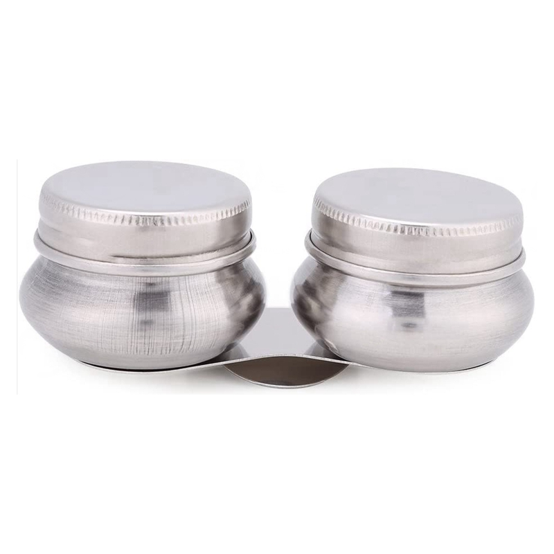 Stainless Steel Oil Painting Pot Double Mouth Paint Cup Portable Oil Painting Cleaning Container with Lid