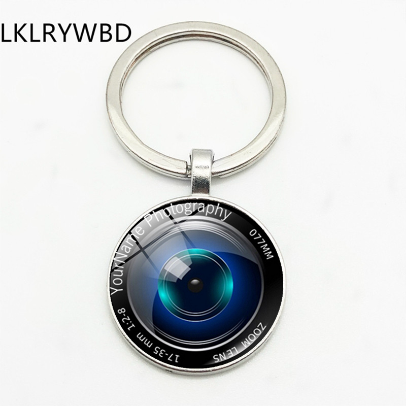 LKLRYWBD SLR Camera Lens Keyring Key Ring Jewelry Pendant Convex Glass Keychain Friend Gift...