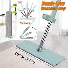 Fregona exprimible lavable para mopas de piso Manos libres limpiador mágico para la limpieza de la casa limpieza del hogar perezosa Wonderlife_aliexpress Lightning ofrece