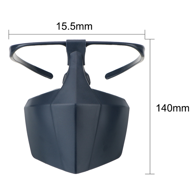 Plastic Protective Mask Against Droplets Anti-fog Isolation Face Mask Breathable Reusable Protective Cover Isolation Shield 3