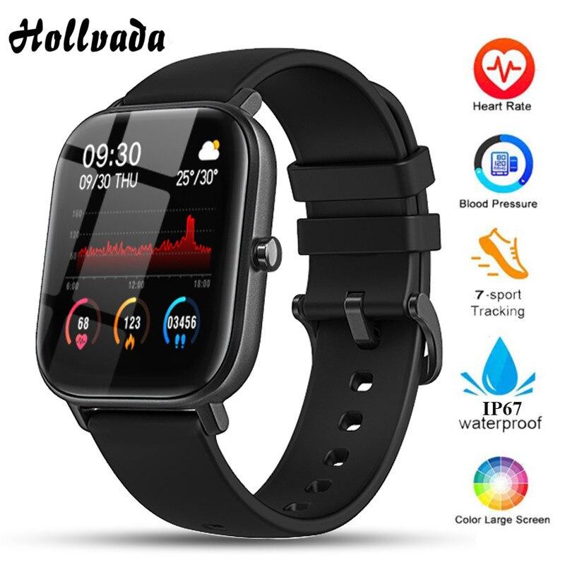 P8 Smart Watch Men Women Heart Rate Monitor Bracelet Sleep Blood Pressure Fitness Tracker Waterproof Color Sport Square Watch