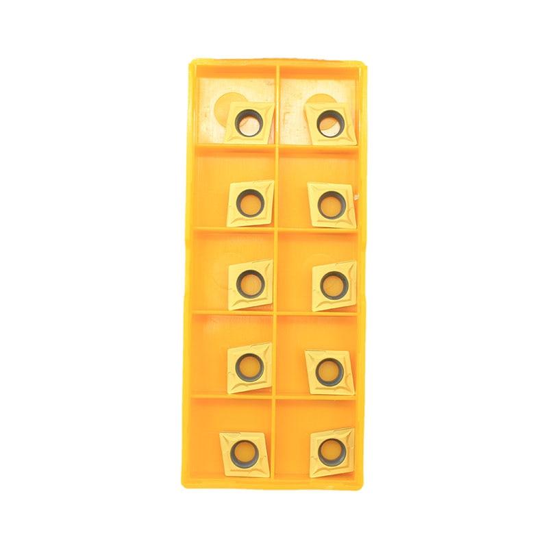10PCS Carbide Insert CCMT09T304 CCMT32.51 US735 Metal Turning Tool Tool Lathe Tool CCMT 09T304 Face Milling Cutter CNC Tool