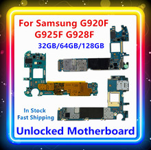 Placa base para Samsung Galaxy S6 G920F, S6 Edge G925F, S6 Edge + G928F, 32/64/128gb