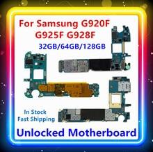 Для Samsung Galaxy S6 G920F материнская плата S6 край G925F материнская плата S6 Edge + G928F материнская плата 32/64/128 ГБ в наличии доска